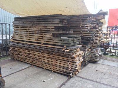 Eikenhouten planken 4 meter lang, 25 - 32cm breed