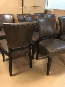 Donkerbruine, vintage, lederen stoelen